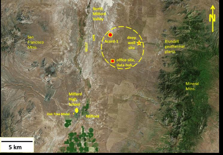 Milford, Utah FORGE Map