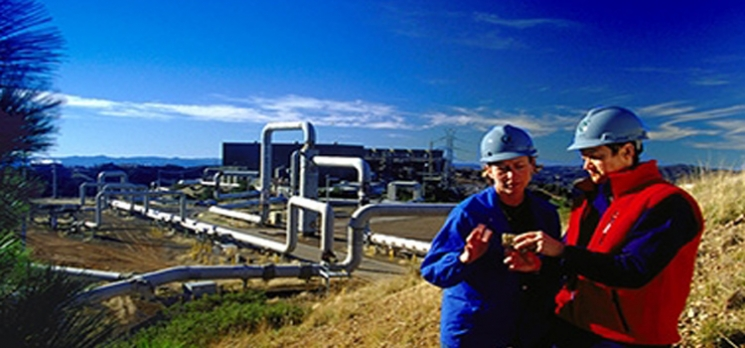 Calpine Staff Run Tests at The Geysers Geothermal Power Plant in California
