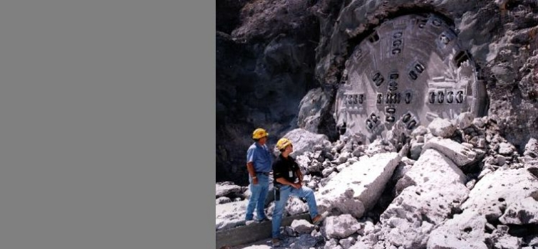 April 25, 1997: Yucca Mountain exploratory drilling.