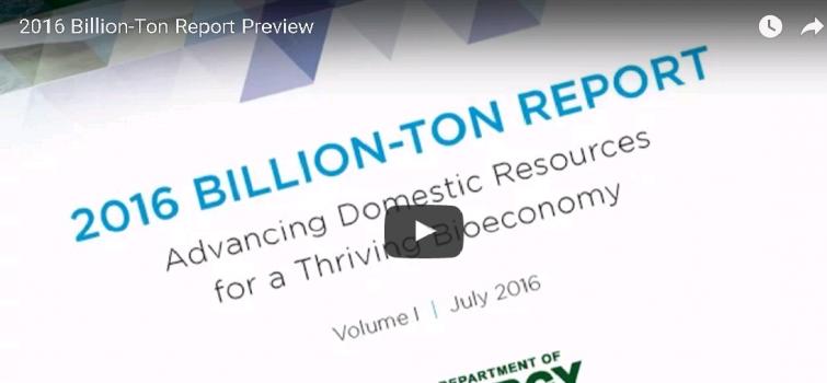 2016 Billion-Ton Report Preview Video