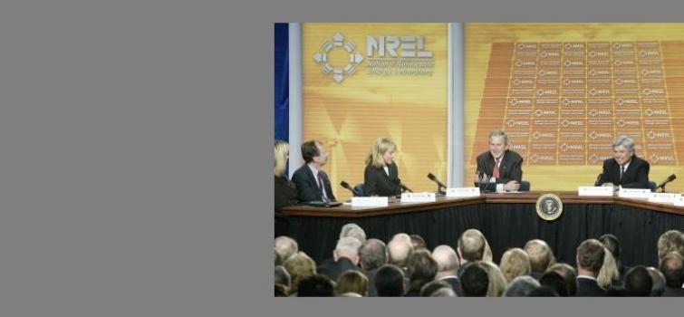 February 21, 2006: Bush visits NREL