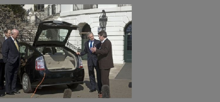 February 23, 2007: Alternative Fuel Vehicle Demonstration at White House