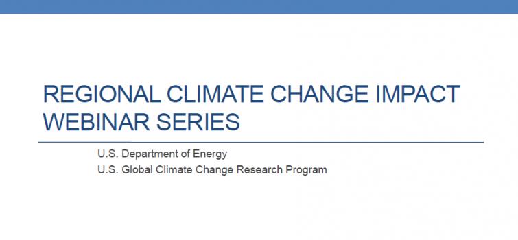 Regional Climate Change Webinar Presentation