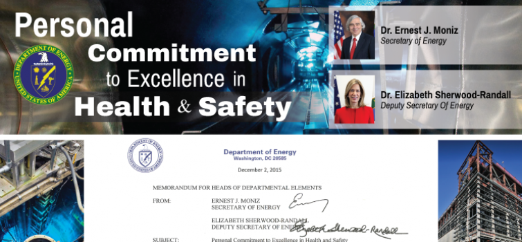 Personal Commitment to Excellence in Health and Safety: A Message from Secretary Moniz and Deputy Secretary Sherwood-Randall