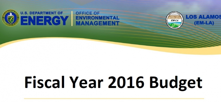 Environmental Management Los Alamos FY'16 Budget