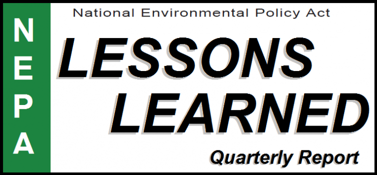 DOE Issues 85th Lessons Learned Quarterly Report