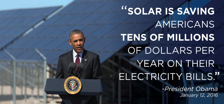 President Obama Praises Solar in the State of the Union