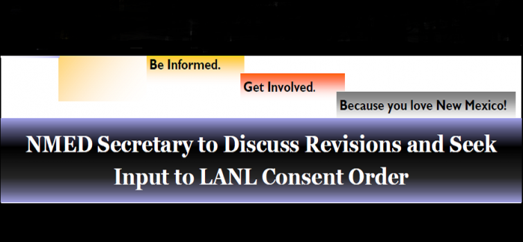 At the March 30, 2016 Board Meeting in Albuquerque, NMED Presented on Revisions to Consent Order