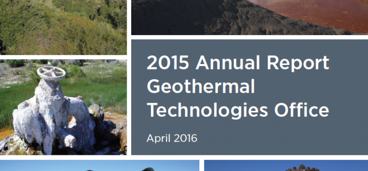 Geothermal Technologies Office 2015 Annual Report