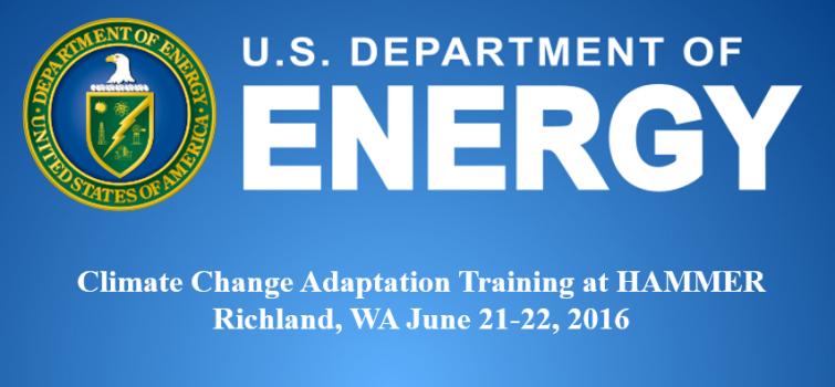 Climate Change Adaptation Training at HAMMER June 21-22, 2016