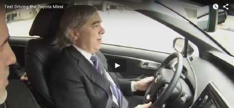 Watch Secretary Ernest Moniz test drive the Toyota Mirai