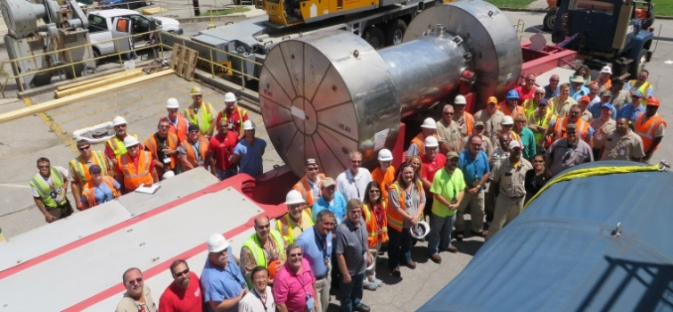 EM removes radioactive components from former reactor at ORNL