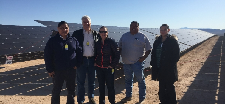 DOE Visits Solar Project on the Moapa River Reservation