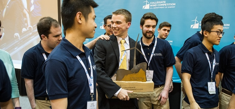Pennsylvania State University Wins the Collegiate Wind Competition 2016