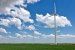 The Greensburg Wind Farm is comprised of 10 1.25-MW wind turbines, supplying a total of 12.5-MW of renewable wind power to the town.   Photo from Native Energy, Inc., NREL 17592