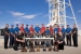 WIPP's mine rescue team members, back row from left, are NWP President and Project Manager Farok Sharif; Heath Fowler; Manny Marquez; Mat Ridgway; Gary Kessler; Curtis Sanders, III; Jim Pierce; Tony Mihelic; Joe Baca; Justin Bailey; Ty Zimmerly; Fabian Carrasco; Chauncey Ortega; Nico Dominguez; and CBFO Manager Joe Franco. In front are Richard West, team trainer; and Ann Strait, of NWP emergency management. Not pictured is Doug Pitzer, a Red Team member.