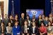 Members of the 2013 AAGEN SES Development Program class gather for a photo at the program's kickoff at the White House in March 2012. EM's John Moon and Dr. Ming Zhu are in the second row; Moon is second from left and Zhu is third from left. Melvin G. Williams, Jr., former Associate Deputy Energy Secretary, is seated far left in the first row.