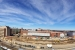 A panorama of the FRIB construction site from the roof of a nearby Michigan State University campus building.