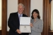 Ronald J. (R.J.) McIntosh receives a Certificate of Special Congressional Recognition from Rep. Suzan DelBene of Washington. | Photo courtesy of Rep. Suzan DelBene's office