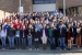Coaches, students and volunteers paused for a group photo outside Clark Memorial Library before the Science Bowl competition began. More than 100 students from 13 area high schools converged on the campus of Shawnee State University in Portsmouth for the inaugural event hosted by DOE.