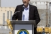 Senior Advisor for Environmental Management David Huizenga speaks during an event announcing the completion of work to place N Reactor in safe storage.