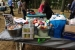 The Nuclear Energy Program Office collected over 250 pounds of donations as part of a picnic with door prizes. | Photo courtesy of Diana Li, Nuclear Energy.