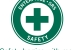 """A green cross was chosen as the primary symbol for the Savannah River Site's """"Safety Begins with Me"""" program."""