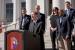Under Secretary for Science and Energy  Dr. Franklin Orr announces Denver as the host city for the 2017 U.S. Department of Energy Solar Decathlon.   Photo courtesy of Ellen Jaskol