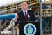 Under Secretary for Nuclear Security Thomas D'Agostino addresses an audience of about 150 people during the ribbon-cutting ceremony for the SRS Biomass Cogeneration 