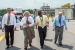 From left, Dr. Terry Michalske, director of EM's Savannah River National Laboratory and executive vice president of Savannah River Nuclear Solutions, Energy Secretary Ernest Moniz, Savannah River Waste Disposition Operations Director Phillip Giles, and Savannah River Operations Office Manager David Moody are pictured walking at H Tank Farm.