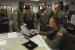 A KC-135 crew of the 22nd Air Refueling Wing meets to mission plan for their flight.  They are using a tool called Mission Index Flying (MIF) software which was introduced to use environmental and airplane-specific variables in order to calculate the optimum speeds and altitudes which guarantee the most efficient use of fuel throughout each phase of flight.