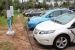Plug-in vehicles using electric vehicle supply equipment (EVSE) in Oahu, Hawaii. | Photo by Better Place, NREL 22255