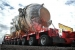 The Engineering Test Reactor vessel is shown here removed, loaded and ready for transport to the on-site landfill.