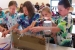 Fifth graders learn about cleaning up groundwater at the Children's Water Festival.