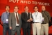 """The technology developed by EM's Office of Packaging and Transportation Packaging Certification Program technology development team was selected by the RFID Journal as the """"Most Innovated Use of RFIDs."""" Team members pictured here include Dr. John Lee, Dr. Yung Liu, Dr. Jim Shuler, Dr. Hanchung Tsai and John Anderson. Team members not pictured are Brian Craig and Dr. Kun Chen."""