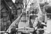 A view of the first cask of reactor fuel from Sweden being unloaded from the m.s. Odensholm on July 21, 1963 in Savannah, Ga.