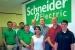 Members of the TEC team (from left to right): Aman Khippal, Wade Willatt, Anoop Alex, Walter Hendrix, Joseph Dorey, Bimaldeep Kaur, Jacob Freeman, Carl Castellow, and Matan Marom.<br /><em>Courtesy of Schneider Electric</em>