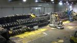 Waste awaiting retrieval at AMWTP's Transuranic Storage Area Retrieval Enclosure.