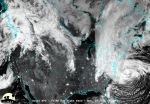 """On Monday, October 29, 2012, Hurricane Sandy made landfall 5 miles south of Atlantic City, New Jersey, with maximum sustained winds near 80 mph. This satellite image was taken 16 to 18 hours before Sandy's landfall on the New Jersey coast, using the Visible Infrared Imaging Radiometer Suite on NASA's Suomi National Polar-orbiting Partnership satellite. The Department of Energy, in partnership with the Federal Emergency Management Administration (FEMA) and other federal agencies, is working around the clock to support the states and utilities that have been impacted by Sandy. Learn more about <a href=""""http://energy.gov/articles/energy-department-and-federal-efforts-support-utility-power-restoration-efforts"""">federal efforts to support utility power restoration</a>. 