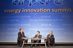 """Elon Musk, CEO of Tesla Motors, and Secretary Chu during a fireside chat at the 2013 ARPA-E Energy Innovation Summit 
