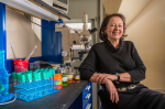 Sandia chemical engineer Nancy Jackson has worked in laboratories around the world to help ensure that chemicals are used safely and kept secure. The American Association for the Advancement of Science honored her with the 2013 Science Diplomacy Award. | Photo by Randy Montoya, Sandia National Lab.