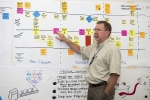 Brad Keefe, director of Tritium Business Planning and Integration, presents an acquisition forecasting process during a rapid improvement event at the Savannah River Site.