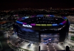 MetLife Stadium, the site of yesterday's Super Bowl, features a ring of 1,350 solar panels that can generate 350,000 kilowatt hours of electricity annually. The number of jobs in the U.S. solar energy industry equates to nearly double the amount of seats in the stadium.  Picture courtesy NRG Solar, LLC