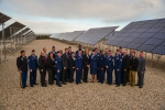Deputy Secretary Liz Sherwood-Randall with the graduates of the Solar Ready Vets program at Hill Air Force Base, Utah. Image courtesy of the U.S. Air Force.