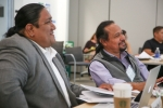 Photo of two participants at a tribal energy workshop