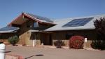 Photo of Tonto Apache's community-scale solar project.