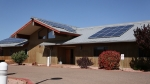Photo of Tonto Apache's community-scale solar project.