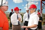 Secretary Steven Chu visited Kapolei, Hawaii, to check on the process of an integrated biorefinery project awarded $25 million through the Recovery Act to construct the facility. | Image courtesy of the Energy Department.