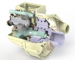 The innovative drivetrain designed by NREL and its partners applies a system approach to improve all three major components: a single-stage gearbox, a medium-speed permanent-magnet generator, and a high-efficiency power converter. Illustration by Romax Technology