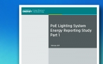 a picture of the cover page of the New Report on PoE Connected Lighting Systems publication.